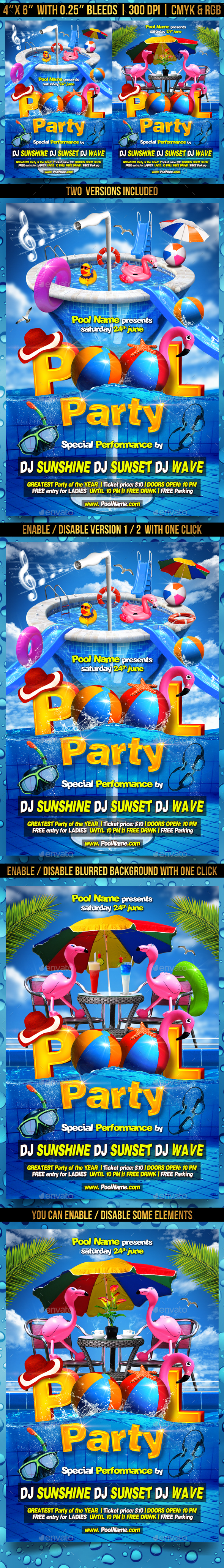 Pool Party Flyer Template by Gugulanul | GraphicRiver