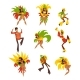 Happy People Dancing and Playing Music Brazil - GraphicRiver Item for Sale