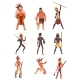 Armed Native People of African Tribes Australian - GraphicRiver Item for Sale