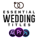 Essential Wedding Titles | MOGRT for Premiere - VideoHive Item for Sale