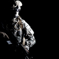 Army ranger high contract portrait on black - PhotoDune Item for Sale