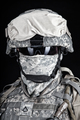 US Marine Corps soldier close up portrait on black - PhotoDune Item for Sale