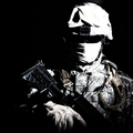Modern infantry high contrast portrait on black - PhotoDune Item for Sale