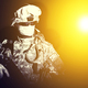 Special forces soldier in projector dazzling light - PhotoDune Item for Sale
