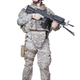 Full equipped US marine standing with machine gun - PhotoDune Item for Sale