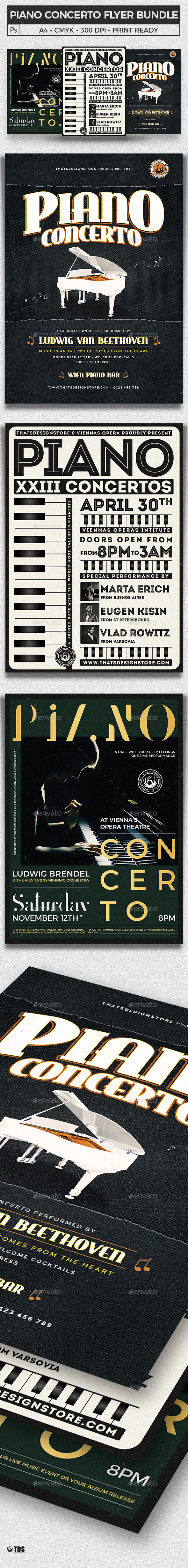 Piano Concerto Flyer Bundle - Concerts Events