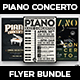 Piano Concerto Flyer Bundle - GraphicRiver Item for Sale
