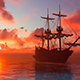 Sailing Ship And Sunset - VideoHive Item for Sale