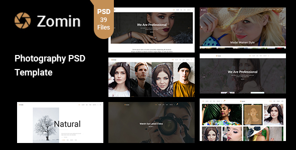 Zomin – Photography PSD Template