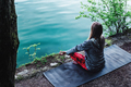 Meditating by the lake - PhotoDune Item for Sale