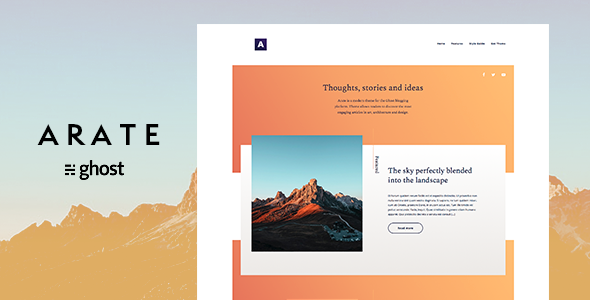 Arate – Clean and Minimal Ghost Blog Theme