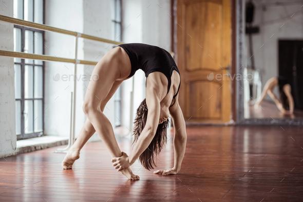 Sport girl on training - Stock Photo - Images