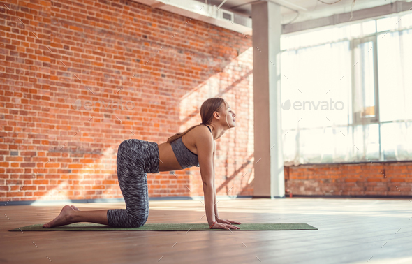 Sport woman practicing yoga - Stock Photo - Images