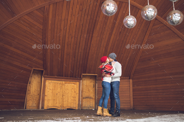 Kissing couple in love - Stock Photo - Images