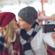 Young couple making selfie - PhotoDune Item for Sale