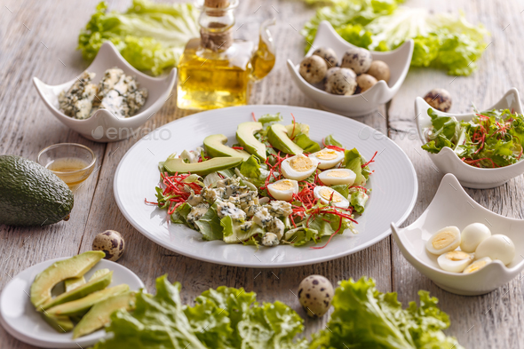 Homemade avocado salad - Stock Photo - Images
