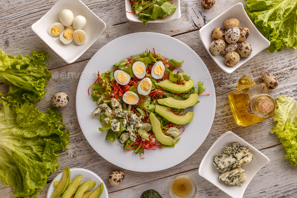 Healthy lunch plate - Stock Photo - Images
