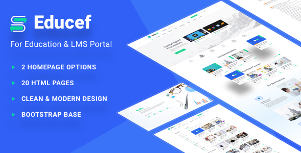 Educef – LMS HTML Template