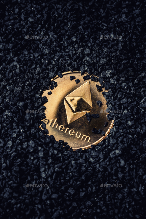 Ethereum gold coin - Stock Photo - Images