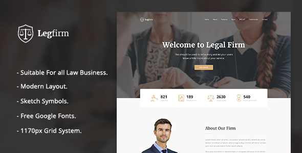 Legfirm - Legal Firm Sketch Template - Sketch Templates