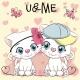 Two Cartoon Kittens