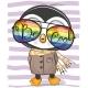Penguin with Sun Glasses