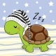 Sleeping Turtle in a Hood - GraphicRiver Item for Sale