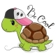 Turtle with a Pink Cap