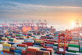container terminal in sunset - PhotoDune Item for Sale