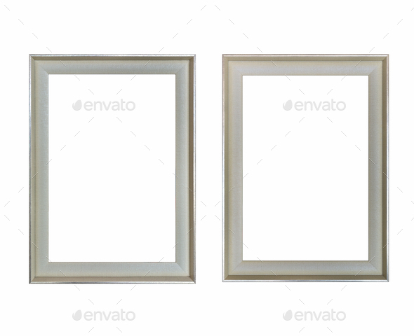 blank picture frame isolated - Stock Photo - Images