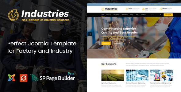 Image of Industries - Factory, Engineering Company, Industrial Business Joomla Template