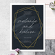 Simple Geometric Line Invitation Set - GraphicRiver Item for Sale