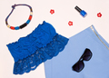 Trendy summer women outfit in blue - PhotoDune Item for Sale