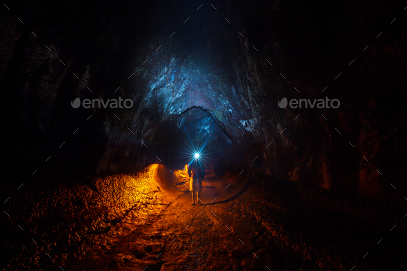 Lava tube - Stock Photo - Images
