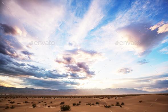 Sand dunes in California - Stock Photo - Images