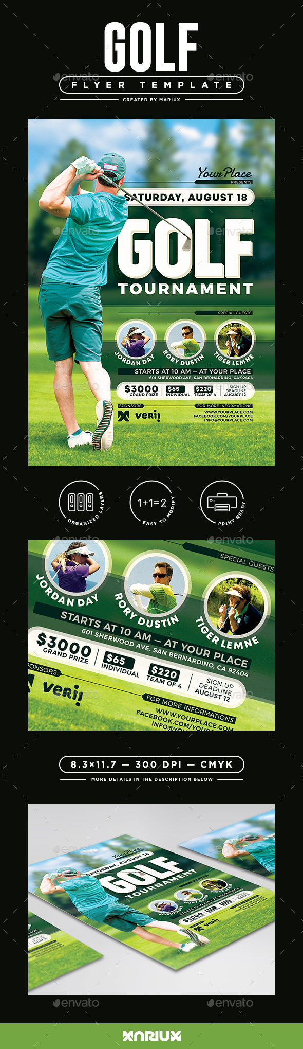 Golf Tournament Flyer/Poster - Sports Events