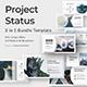 Project Status 3 in 1 Google Slide Bundle - GraphicRiver Item for Sale