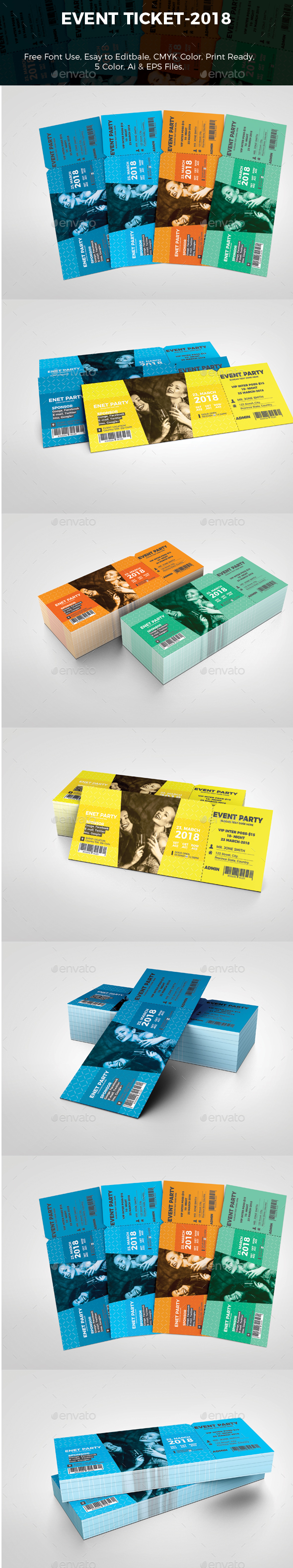 Event Ticket - Stationery Print Templates
