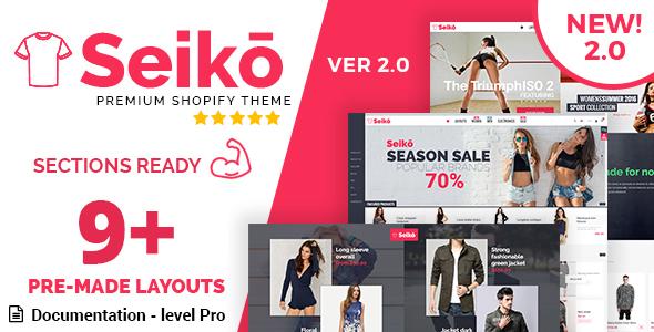 Seiko - Shopify Theme (NEW 2.0)