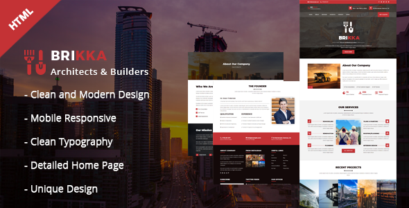 Image of Brikka - Building and Construction HTML Template