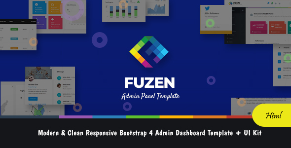 Image of Fuzen - Modern & Clean Responsive Bootstrap 4 Admin Dashboard Template + UI Kit