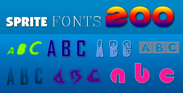 Sprite Fonts 200 (for Construct 2 and 3) - CodeCanyon Item for Sale