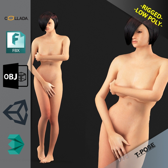 Naked Girl 5 - 3DOcean Item for Sale