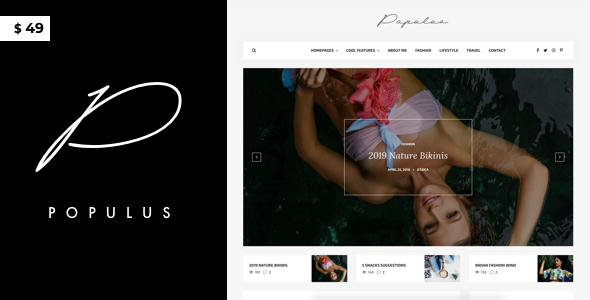 Populus – WordPress Blog Theme for Elite Persons