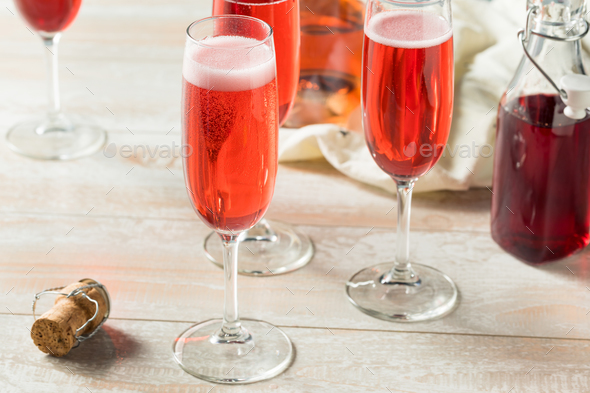 Sweet homemade Rose Mimosas - Stock Photo - Images