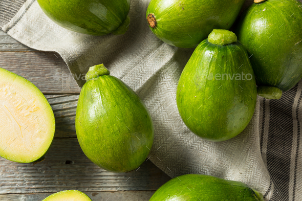 Raw Green Organic Korean Squash - Stock Photo - Images
