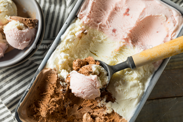 Homemade Neopolitan Ice Cream - Stock Photo - Images