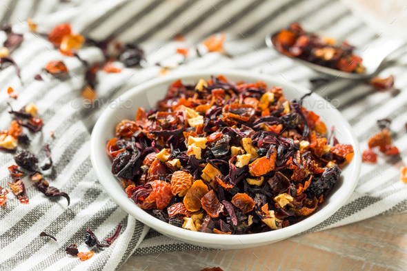 Dry Organic Berry Hibiscus Tea Leaves - Stock Photo - Images