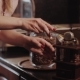 Barista Is Hand Milling Coffee - VideoHive Item for Sale