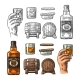 Whiskey Set - GraphicRiver Item for Sale